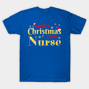 Funny Christmas Tee Santa's Crew Medical Nurse Gift T-Shirt