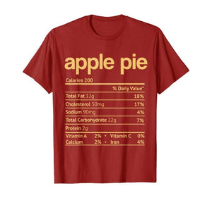 Apple Pie Nutrition Funny Thanksgiving Christmas T-Shirt