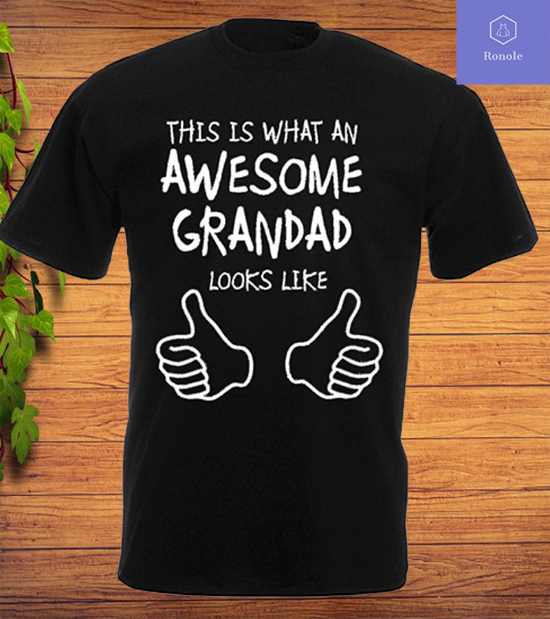 Awesome Grandad T Shirt or Vest Christmas Fathers Day Birthday Gift Tee Top