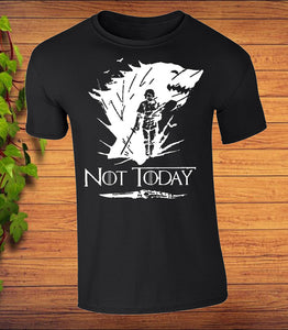 NOT.TODAY. BAG Arya Stark Game Of Thrones Cotton Tote Top Inspired Not Today