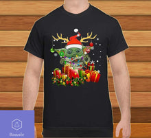 Load image into Gallery viewer, Baby Yoda Reindeer light Christmas Shirt