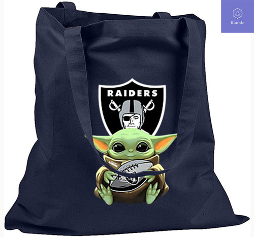 Baby Yoda Hug Ball Oakland Raiders