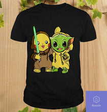 Load image into Gallery viewer, Baby Yoda And Baby Pikachu T-Shirt