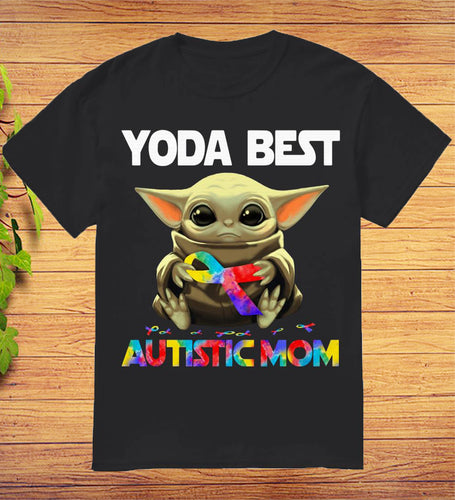 Baby Yoda Best Autistic Mom T-Shirt