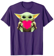 Load image into Gallery viewer, Baby Yoda Hug Heart Valentine's Day Gift T-Shirt
