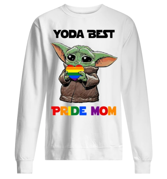 Baby Yoda Yoda Best Pride Mom Long Sleeve T-Shirt