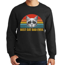 Load image into Gallery viewer, Best Cat Dad Ever Retro Sunset Sweatshirt