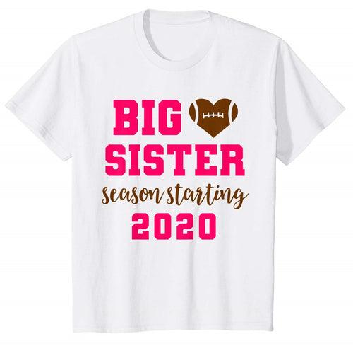 Big Sister Football Pregnancy Announcement T-Shirt