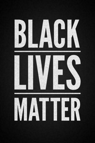 Black Lives Matter Motivational Inspirational Racial Harmony Equality Poster