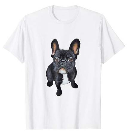 Black French Bulldog T-shirt for Men Women