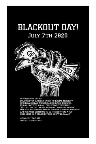 #BlackoutDay2020 Blackout Day 2020 July 7th Poster