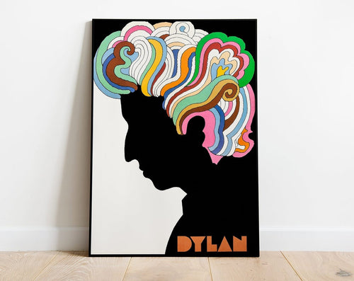 Bob Dylan Greatest Hits Psychedelic Poster