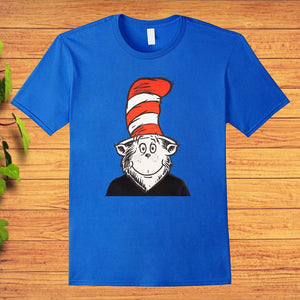 Cat in the Hat Mask Dr Seuss T-Shirt
