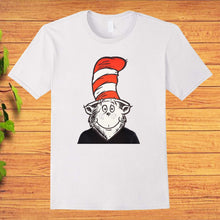 Load image into Gallery viewer, Cat in the Hat Mask Dr Seuss T-Shirt