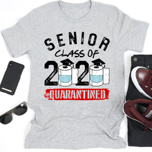 Load image into Gallery viewer, Class Of 2020 Senior Quarantined Graduation Toilet Paper Covid-19 T-Shirt