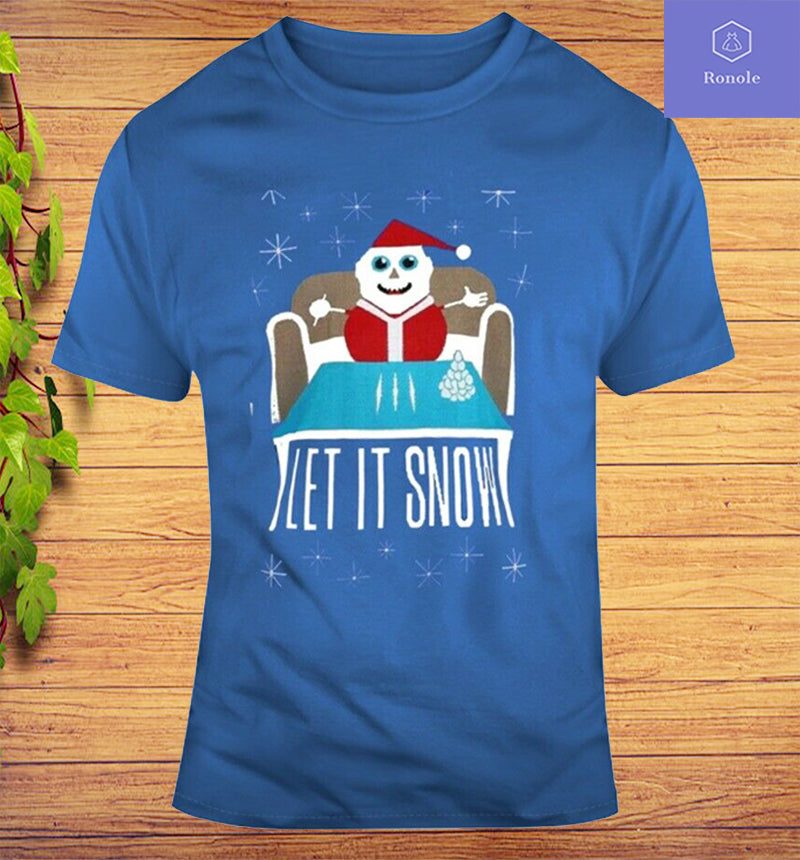 Cocaine Santa Drug Ugly Christmas Let It Snow Parody T Shirt