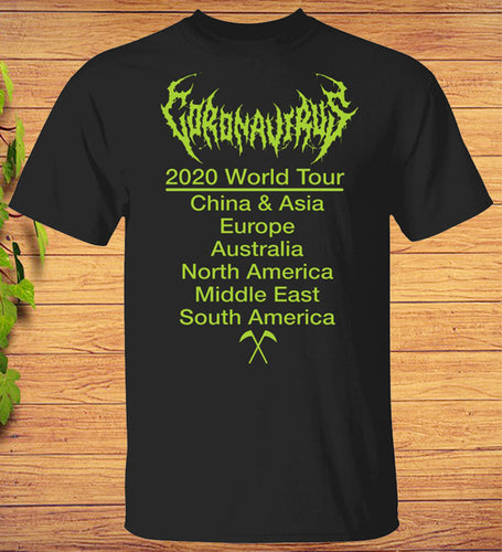 Coronavirus 2020 Covid-19 nCoV World Tour T-Shirt