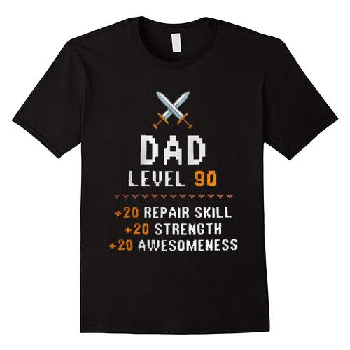 Dad Level Up Funny Fathers Day T-Shirt