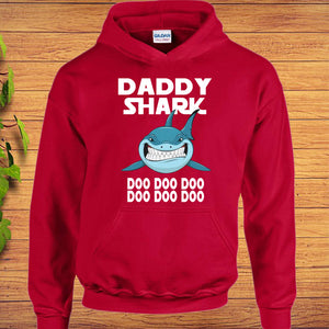 Daddy Shark Doo Doo Doo Hoodie Fathers Day Great Gift for Dad idea