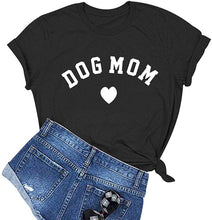 Load image into Gallery viewer, Dog Mom Graphic Cute T-Shirt Funny Cotton
