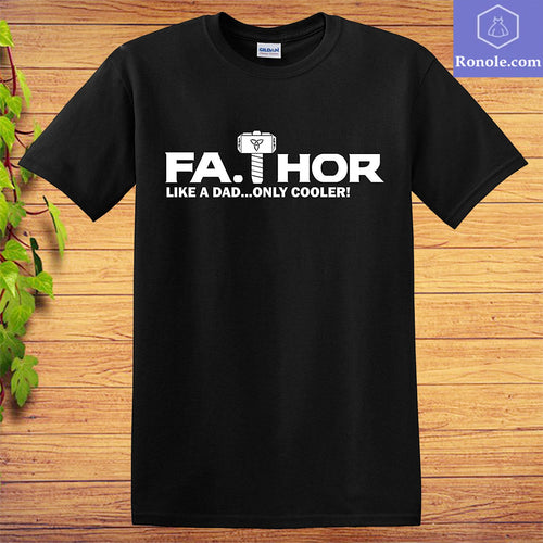 FATHOR Funny T-Shirt Avengers Marvel Thor Dad Father's Day