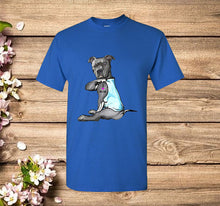 Load image into Gallery viewer, Funny Dog Pitbull I Love Mom Tattoo Gift T-Shirt
