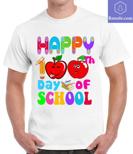 Funny Happy 100 Days of School T-Shirt Ideas for Teachers and Student