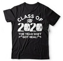 Load image into Gallery viewer, Graduation 2020 Class Of 2020 Quarantine Social Distancing Toilet Paper T Shirt