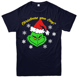 Grinch Christmas T-shirt Chritmas You Say Xmas Hat Festive Xmas Gift Top