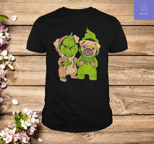 Load image into Gallery viewer, Grinch And Pug Dog T Shirt