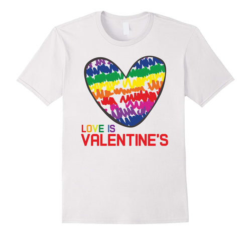 Heart LGBT Flag Gay Pride Valentines Day T-Shirt