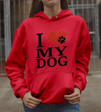 Load image into Gallery viewer, I Love My Dog Hoodie Gift for Dog Lover