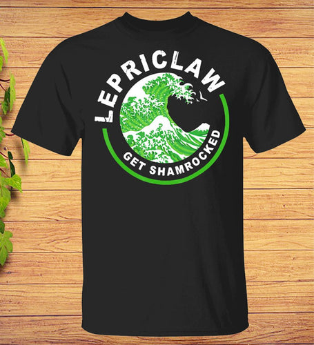Lepriclaw Get Shamrocked Drinking St Patricks Day Claw T-shirt