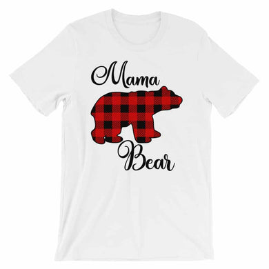 Mama Bear Buffalo Plaid Mothers Day Gift T-Shirt