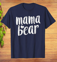 Load image into Gallery viewer, Mama Bear Heart Gift Mothers Day T-Shirt