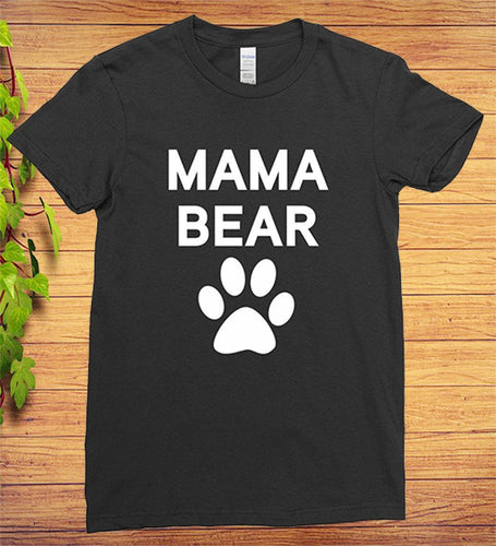 Mama Bear Paw Gift Mothers Day, Matching Family T-Shirt