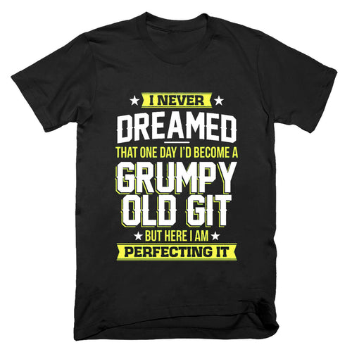 Mens Grumpy Old Git Top  Fathers Day Grandad T Shirt