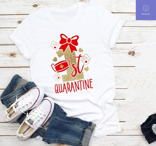Mommy and Me Shirts 1st Quarantine