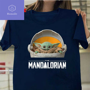 NEW Baby Yoda Mandalorian The Child Floating Navy color T-Shirt