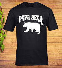 Load image into Gallery viewer, Papa Bear Funny Fathers Day Birthday T-Shirt