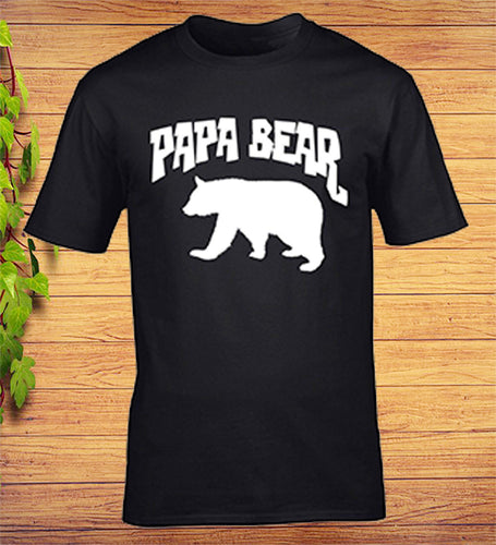 Papa Bear Funny Fathers Day Birthday T-Shirt