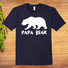 Load image into Gallery viewer, Papa Bear Funny Matching T-Shirt for Dad Fathers Day, Great Gift Idea