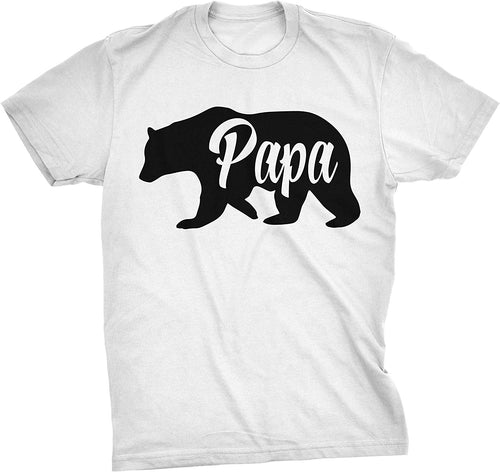 Papa Bear Funny Shirts for Dads Gift Idea Novelty Tees Family T Shirt