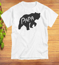 Load image into Gallery viewer, Papa Bear Funny T-Shirt Fathers Day Gift Idea