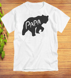 Papa Bear Funny T-Shirt Fathers Day Gift Idea