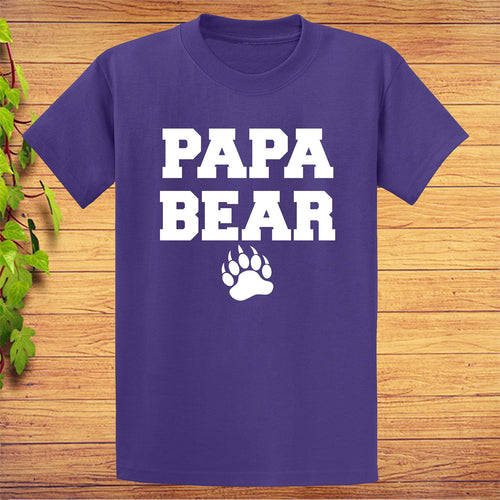 Papa Bear T-Shirt Cute Father's Day Gift
