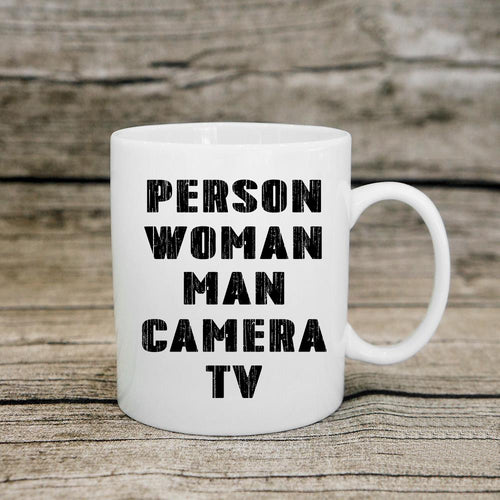 Person-Woman-Man-Camera-TV Vintage Coffee Mug