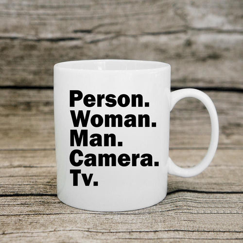 Person Woman Man Camera Tv Coffee Mugs Tea Cup