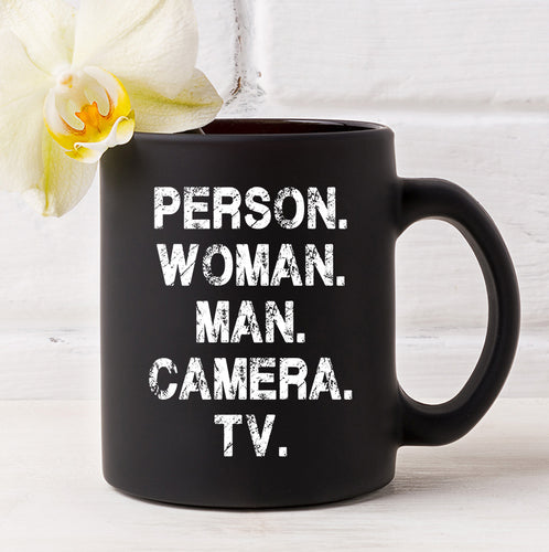 Person Woman Man Camera Tv Funny Coffee Mug