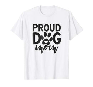 Proud Dog Paw Heart Mom T-Shirt